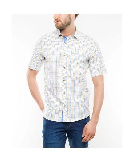 Camisa-Sport-Cuadros-Tattersal-Blanco-Talla-M