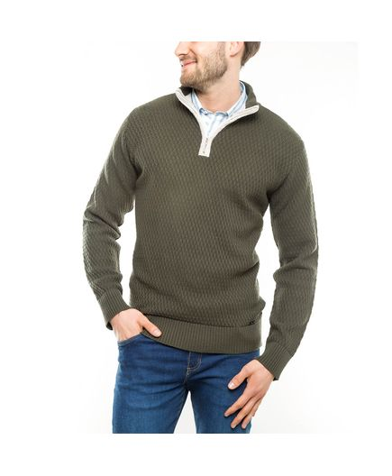 Sweater-Cairo-con-Cuello-Cremallera-Verde-Talla-XL