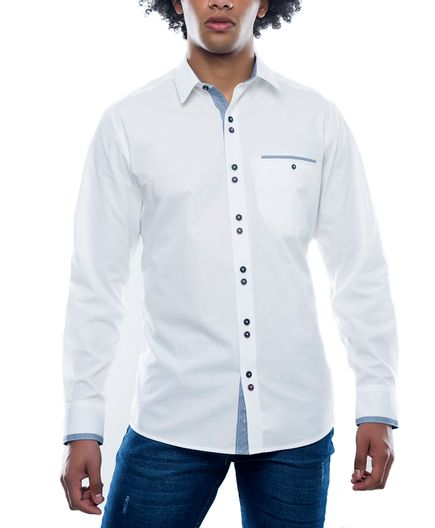 Camisa-Sport-Blanca-Double-Button