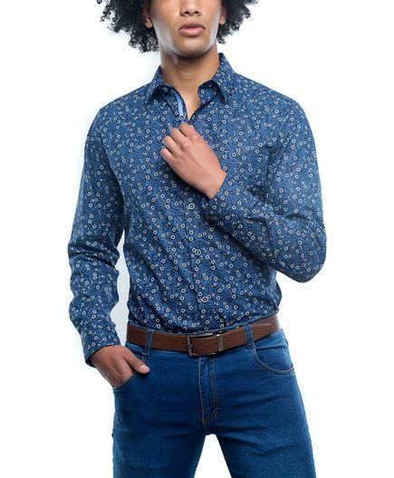 Camisa-Casual-Estampado-Paisley-Indigo