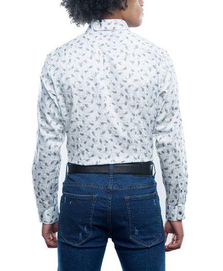 Camisa-Casual-Estampado-Paisley-Plata