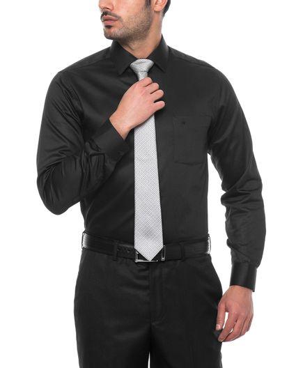 Camisa-Formal-Negra-Dobby-100--Algodon